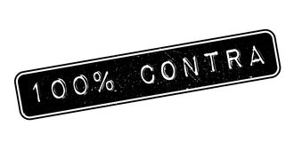 100 percent contra rubber stamp Royalty Free Stock Photography