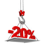 Percent On Crane Hook Stock Photography