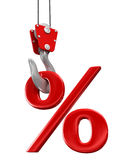 Percent On Crane Hook Royalty Free Stock Image