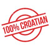 100 percent Croatian rubber stamp Stock Photography