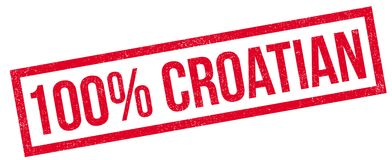 100 percent Croatian rubber stamp Royalty Free Stock Images