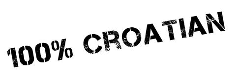 100 percent Croatian rubber stamp. Grunge design with dust scratches. Effects can be easily removed for a clean, crisp look. Color is easily changed Stock Images