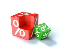 Percent cube Stock Image
