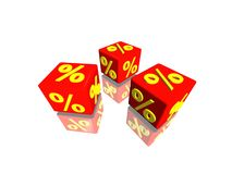 Percent cubes Royalty Free Stock Photos