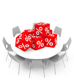 Percent cubes Stock Image
