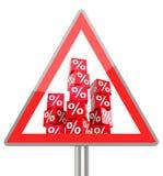 Percent cubes Stock Image