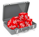 Percent cubes Stock Images