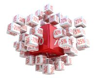 Percent cubes Stock Photography