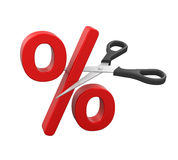 Percent Cut and Scissors Stock Photos