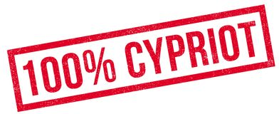 100 percent Cypriot rubber stamp Royalty Free Stock Photo