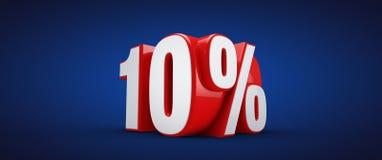 10 percent Royalty Free Stock Image