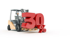 30 percent, 3D render. Render 3D Royalty Free Stock Photo
