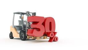 30 percent, 3D render Royalty Free Stock Photo