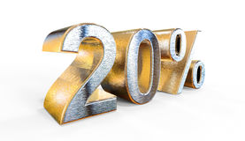 20 Percent 3d rendering which can be used for sale, investment, Royalty Free Stock Photography