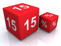 15 percent dice Stock Images