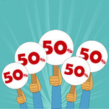 50 percent discount banner Stock Image