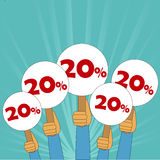 20 percent discount banner. Twenty percent discount banner in vector format Vector Illustration