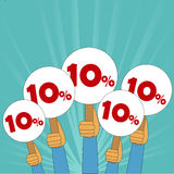 10 percent discount banner. In vector format Royalty Free Stock Image