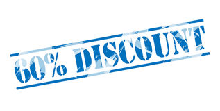 60 percent discount blue stamp Stock Photos