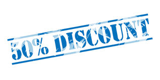 50 percent discount blue stamp Royalty Free Stock Images