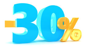 30 percent discount. 3d illustration of 30 percent discount Stock Photo