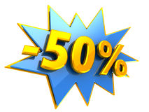 50 percent discount Royalty Free Stock Photo