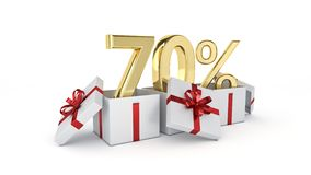 70 percent discount. 3d rendering Stock Photo