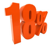Percent Discount 3d Sign Royalty Free Stock Photography