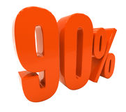 Percent Discount 3d Sign Royalty Free Stock Images