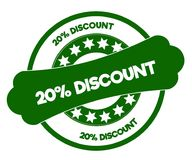 20 PERCENT DISCOUNT green stamp. Illustration graphic concept image vector illustration