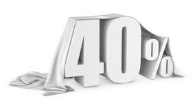 Percent discount icon stock illustration