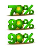 Percent discount icon Stock Images