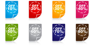 Percent discount icons Stock Images
