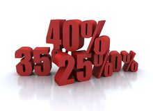 Percent discount illustration Stock Photography