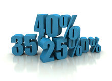 Percent - discount illustration Royalty Free Stock Photo