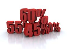 Percent - discount illustration Stock Photos