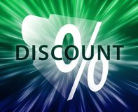 Percent Discount illustration Royalty Free Stock Photo