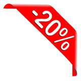 20 Percent Discount Offer Stock Photography