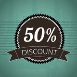 50 percent discount Royalty Free Stock Photography