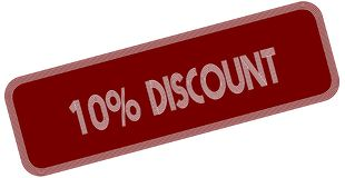 10 PERCENT DISCOUNT on red label. Illustration graphic concept image Royalty Free Stock Photo