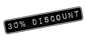 30 percent discount rubber stamp. On white. Print, impress, overprint Royalty Free Stock Images