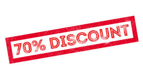 70 percent discount rubber stamp Stock Image