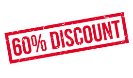 60 percent discount rubber stamp Stock Image