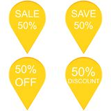 50 percent discount sign icon. Royalty Free Stock Photo