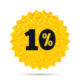 10 percent discount sign icon. Sale symbol. Gold glitter web button. 10 percent discount sign icon. Sale symbol. Special offer label. Rich glamour star design Stock Image