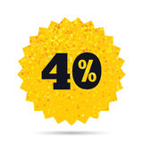 40 percent discount sign icon. Sale symbol. Royalty Free Stock Photography