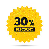 30 percent discount sign icon. Sale symbol. Stock Photos