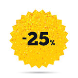 25 percent discount sign icon. Sale symbol. Stock Image