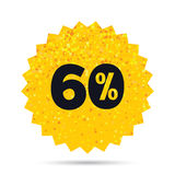 60 percent discount sign icon. Sale symbol. Royalty Free Stock Photos
