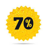 70 percent discount sign icon. Sale symbol. Stock Photography